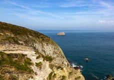 Penhascos de Armor Coastline - Brittany, França fotos de stock