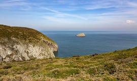 Penhascos de Armor Coastline - Brittany, França foto de stock