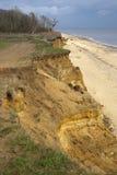 Penhascos de Benacre, Suffolk Imagens de Stock