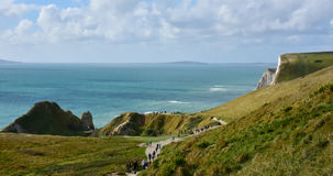 Penhascos de Dorset, vista no dia ensolarado Imagem de Stock Royalty Free