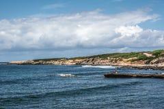Penhascos de Mannu do Capo, Sardinia Fotografia de Stock
