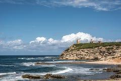 Penhascos de Mannu do Capo, Sardinia Foto de Stock