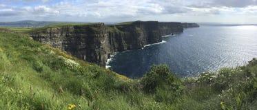 Penhascos de Moher - condado Clare - Irlanda Imagens de Stock Royalty Free