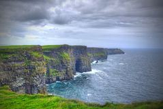 Penhascos de Moher em Ireland foto de stock royalty free