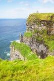 Penhascos de Moher em Ireland imagens de stock royalty free
