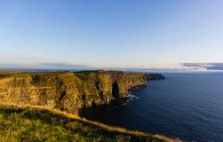 Penhascos de Moher em Ireland fotografia de stock