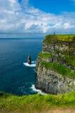 Penhascos de Moher em Ireland Fotografia de Stock Royalty Free