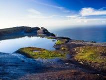 Penhascos de Moher no condado Clare fotografia de stock