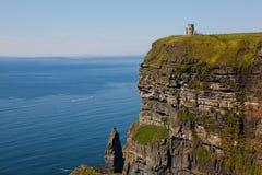 Penhascos de Moher no condado Clare, Ireland Imagem de Stock