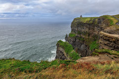 Penhascos de Moher no por do sol - Ireland Fotografia de Stock Royalty Free