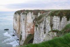Penhascos de Normandy fotografia de stock