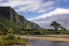 Penhascos de Punakaiki, costa oeste, ilha sul, Nova Zelândia Imagem de Stock