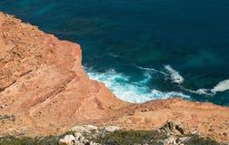 Penhascos de Steept do parque nacional de Kalbarri, WA, Austrália Ocidental, Oceano Índico foto de stock