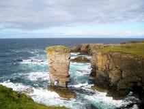 Penhascos de Yesnaby (Escócia) Imagens de Stock