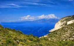 Penhascos de Zakynthos Grécia Fotografia de Stock