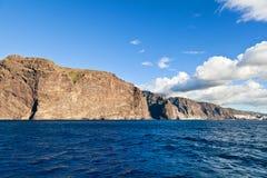 Penhascos do Los Gigantes, Tenerife fotografia de stock royalty free