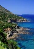 Penhascos do mar de Akamas Fotos de Stock Royalty Free