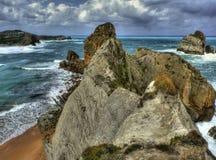 Penhascos do mar de Cantabric Imagem de Stock Royalty Free