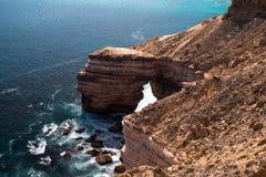 Penhascos do parque nacional de Kalbarri, WA, Austrália Ocidental, Oceano Índico foto de stock