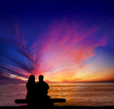 Penhascos do por do sol romances Imagens de Stock