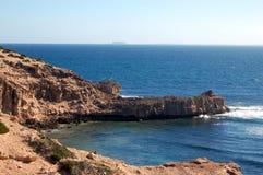 Penhascos e oceano Foto de Stock