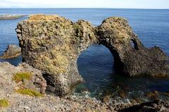 Penhascos islandêses fotos de stock royalty free