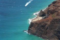 Penhascos litorais da lava Fotografia de Stock Royalty Free