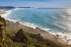 Penhascos na costa atlântica, Marrocos foto de stock royalty free