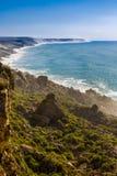 Penhascos na costa atlântica, Marrocos foto de stock