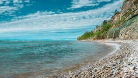 Penhascos na costa em Paldiski, Estônia Foto de Stock Royalty Free