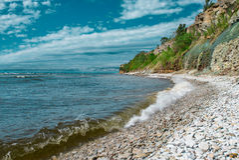 Penhascos na costa em Paldiski, Estônia Imagem de Stock Royalty Free