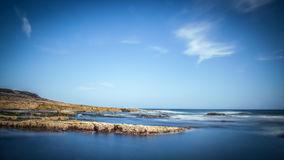 Penhascos na península do gancho Fotografia de Stock Royalty Free