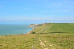 Penhascos no tampão Gris Nez, opale da costa, França Foto de Stock Royalty Free