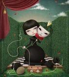 Penhor e rainha ilustração stock