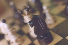 Penhores em um tabuleiro de xadrez 8 imagens de stock royalty free