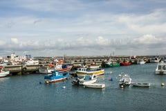 Peniche,葡萄牙:捕鱼港口 免版税库存照片