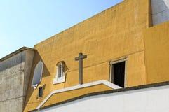 Peniche -圣徒巴巴拉教堂 库存照片