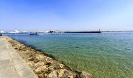 Peniche - entrata del porto Fotografie Stock