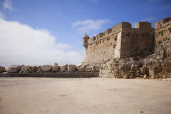 Peniche fort landmark Stock Images