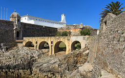 Peniche Fortress - Portugal This for was finished in 1645 and has had a number of uses including military use, a political prison Royalty Free Stock Photos