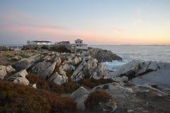 Peniche - le soleil, ressac de la plage e photos libres de droits