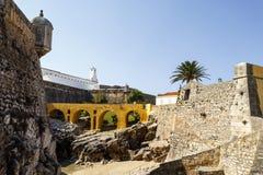 Peniche - medeltida fästning Arkivfoton