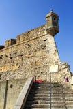 Peniche - medeltida fästning Arkivbilder
