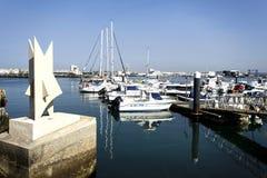 Peniche - modern marina Fotografering för Bildbyråer
