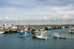 Peniche, Portugal: fishing port Royalty Free Stock Photo