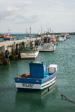 Peniche, Portugal: pier berthing of the artesanal fishing port Stock Image