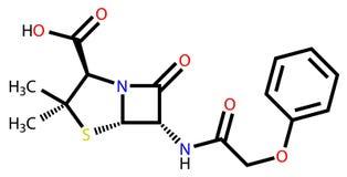 Penicillin V structural formula Royalty Free Stock Photography