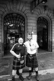 Penicuik tartanu wojsko - Szkocja krajowi footbal członkowie zaspołu fa Obrazy Royalty Free