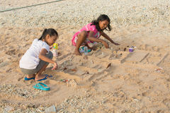 PENIDA ISLAND, INDONESIA - JULY 22.2015:children playing on the beach. Nusa Penida July 22. 2015 Indonesia Royalty Free Stock Photos