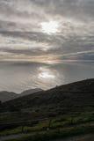 Peninhamening over de Atlantische Oceaan Stock Foto's